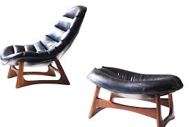 100 Pearsall Chaise Lounge Chair Adrian Scoop And Ottoman For Craft MidCentury