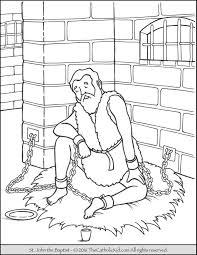 Saint John The Baptist Imprisoned Coloring Page