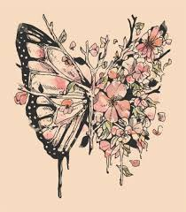 Keep The Branches Exactly As They Are But Instead Of Butterfly Wing With Flowers TattooButterfly