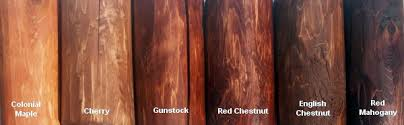 View Some Samples Of The Minwax Stain Colors We Use To Finish Our Indoor Cedar Log Furniture