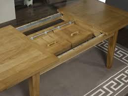 table rectangulaire loïc en chêne massif 160 100 2 allonges de