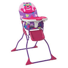 amazon com cosco simple fold deluxe high chair monster shelley