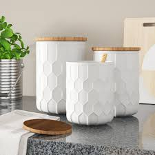 Ceramic Kitchen Canister Sets White Kitchen Canisters Jars You Ll In 2021 Wayfair