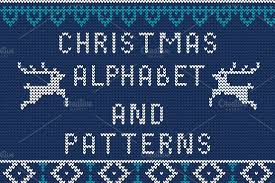 Knitted Alphabet and Patterns Patterns Creative Market