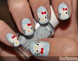 100 Nail Art 2011 Thatleanne Hello Kitty With Essie Wedding Swatches