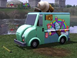 100 Ice Cream Truck Names Mod The Sims Buyable Driveable Animal Control Van