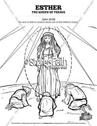 Queen Esther Sunday School Coloring Pages