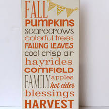 Fall Home Decor Autumn Wooden Sign Holiday Wood For