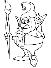 Download Christmas Elf Print Coloring Pages