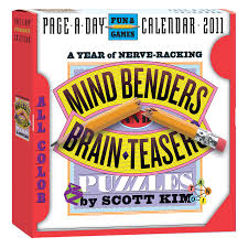 Hard Halloween Brain Teasers by Mind Benders And Brainteasers Puzzles Page A Day Calendar 2011