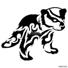 Tribal Bear Cub Vector Tattoo