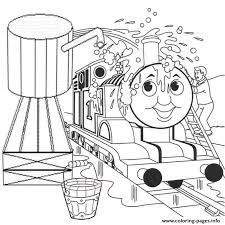 Washing Thomas Train Colouring Pages To Print9634 Coloring