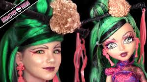 Halloween Monster Names List by Jinafire Long Monster High Doll Costume Makeup Tutorial For