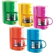 Orange Coffee Maker Cafe V Green Yellow Pink