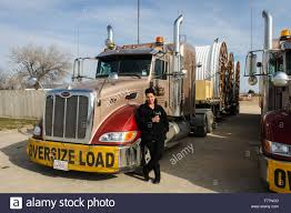Female, Dutch Truck Driver Poses Beside Her 'Watt And Stewart' Stock ...