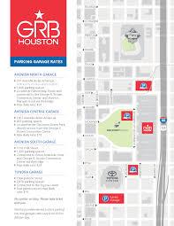 downtown houston parking maps grb convention center