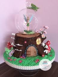 Enchanted Forest Tree Stump Fairy Cake By Cakes Berina Tinkerbell Birthday