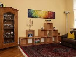 details zu geräumiges wohnzimmerregal regalwand raumteiler regalwürfel buche massiv geölt