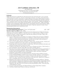 Resume Sample Letters For Law Enforcement With Profesional Background