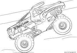 100 Monster Truck Coloring Book Bonanza El Toro Loco Pages Printable 12293