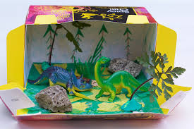 Make A Dinosaur Habitat Box With Things You Have At Home