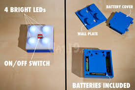 lego portable led brick light 4 bright leds with removable wall plate