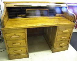Ethan Allen Roll Top Desk by Vintage Roll Top Desk Etsy