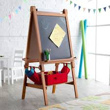 Kidkraft Easel Desk Espresso by Classic Playtime Deluxe Easel Pecan With Paper Roll Hayneedle