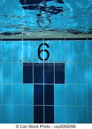 Lane 6 Underwater On A Swimming Pool