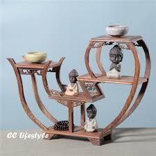 Exquisite Wooden Art Craft Teapot Shelf Exhibit Display Holder Vintage Home Decor Sculpture Stand Storage