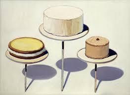 Wayne Thiebaud cake paintings