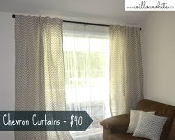 Grey And White Chevron Curtains by Interior Design Blue And White Chevron Curtains With Grey Wall