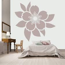 Centrepiece Flower Wall Sticker Headboard Decal Girls Bedroom Home Decor