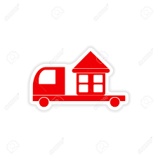 100 Paper Truck Icon Sticker Realistic Design On Home Delivery Royalty