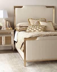 Upholstered Gold Frame Bed