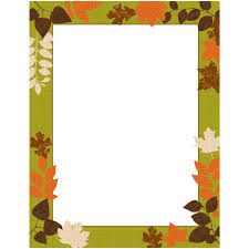 Patterned Leaves Fall Autumn Border Paper TWO GREAT COUPON OFFERS