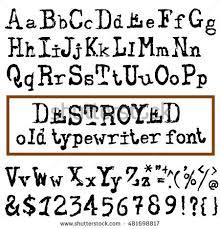 Vector Old Typewriter Font Vintage Grunge