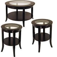 genoa 3 piece coffee end tables value bundle espresso walmart com
