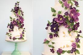 Wildflower Wedding Cake The Amethyst Forest By Rosalind Miller Design