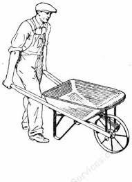 Antique Wheelbarrow Clipart