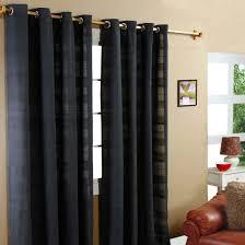 gardinen mit ösen rajput schwarz im 2er set