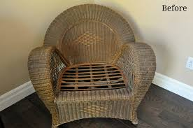 Wicker Chair Makeover with Krylon Laura K Bray Designs