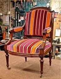 tapissier siege plaisir du tapissier fauteuil acajou xixème siècle atelier
