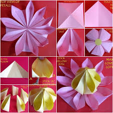 How To Make Lotus Flower With Paper