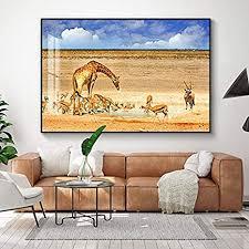 n a wilde tiere giraffe afrikanische kunst landschaft