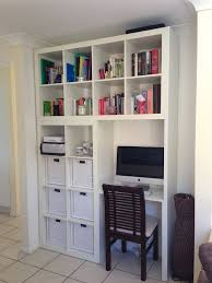 Diy Floating Desk Ikea by Home Design Floating Desk With Hutch Made Of Wood In White
