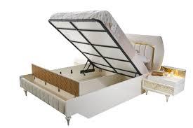 helles schlafzimmer komplett pena 6 teilig in weiß gold