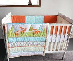 Modern Crib Bedding Sets by Baby Crib Quilts 7 Pcs Prairie Fox Baby Bedding Set Baby Cradle