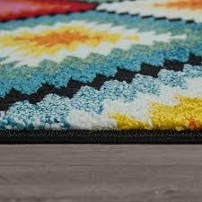 teppiche kurzflor mit rauten muster retro look und 3 d
