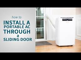 How to Install a Portable Air Conditioner Through a Sliding Door